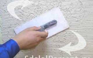Как нанести короед на стену?