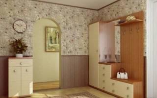 Комбинирование обоев в коридоре фото идеи