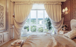Фасоны штор для спальни фото