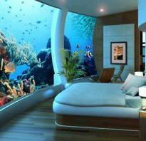 Встроенный аквариум в стену фото