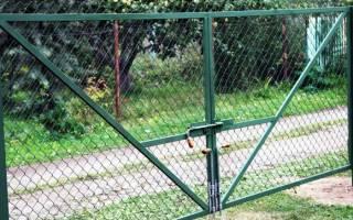 Дачные ворота своими руками бюджетный вариант фото