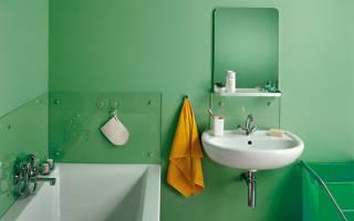 Какой краской покрасить стены в ванной?