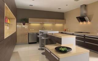 Кухни бежевого цвета фото