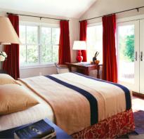 Портьерные шторы для спальни фото