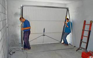 Подъемные ворота для гаража своими руками