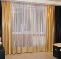 Двухцветные шторы для гостиной фото