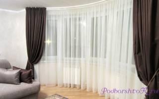 Как красиво повесить шторы на кухне?