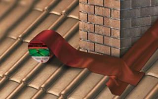 Чем заделать трубу на крыше бани