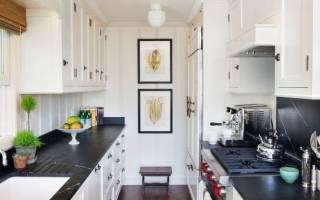 Светлая кухня с темной столешницей фото