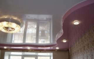 Как сделать двухуровневый натяжной потолок своими руками
