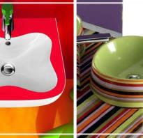 Цветные раковины для ванной комнаты