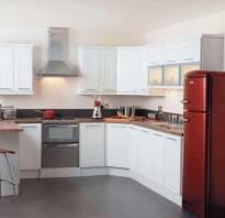 Холодильник на кухне дизайн