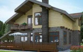Дом из кирпича и клееного бруса