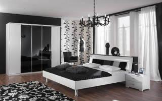 Спальня в черно белых тонах фото