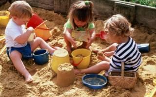 Песочница для детей на дачу своими руками